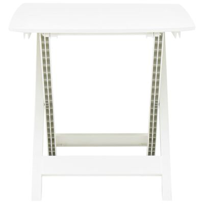 vidaXL Skládací zahradní stůl bílý 79 x 72 x 70 cm plast