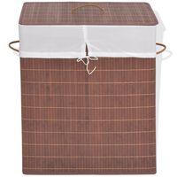 vidaXL Bambusový koš na prádlo obdélníkový hnědý