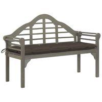 vidaXL Královská zahradní lavice s poduškou 135 cm masivní akácie šedá