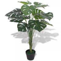vidaXL Umělá rostlina monstera s květináčem 70 cm zelená