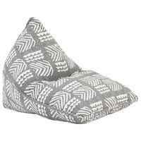 vidaXL Sedací vak šedý textil patchwork