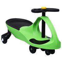 vidaXL Dětské vozítko a odrážedlo SwingCar s klaksonem zelené