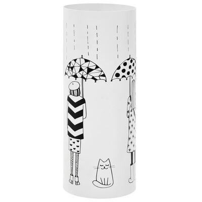 vidaXL Stojan na deštníky Women ocelový bílý , White