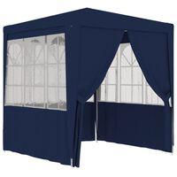 vidaXL Profesionální party stan s bočnicemi 2 x 2 m modrý 90 g/m²