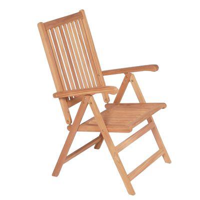vidaXL Polohovatelné zahradní židle 6 ks masivní teak
