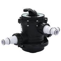 """vidaXL Vícecestný ventil k pískové filtraci ABS 1,5"""" 6cestný"""