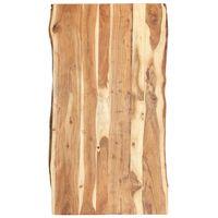 vidaXL Stolní deska masivní akáciové dřevo 120 x (50–60) x 3,8 cm