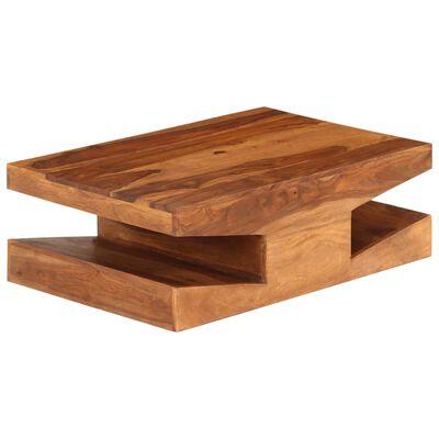 vidaXL Konferenční stolek z masivního sheeshamu 90 x 60 x 30 cm