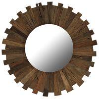 vidaXL Nástěnné zrcadlo masivní recyklované dřevo 70 cm