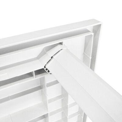 vidaXL Zahradní stůl bílý 126 x 76 x 72 cm plast, Bílá