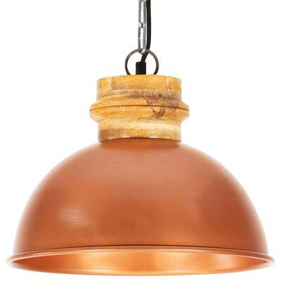 vidaXL Industriální závěsné svítidlo měděné kulaté 32 cm E27 mangovník