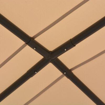 vidaXL Zahradní altán 3 x 3 m ocel béžový