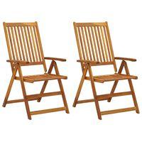 vidaXL Zahradní polohovací židle 2 ks masivní akáciové dřevo