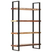 vidaXL 4patrová knihovna 120 x 40 x 180 cm masivní recyklované dřevo