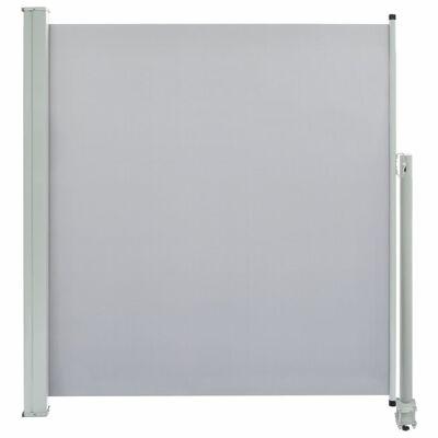 vidaXL Terasová zatahovací boční markýza 140 x 300 cm šedá