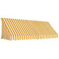 vidaXL Okenní markýza 300 x 120 cm oranžovo-bílá