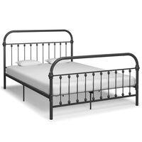 vidaXL Rám postele šedý kov 120 x 200 cm