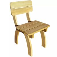 vidaXL Zahradní židle impregnované borové dřevo