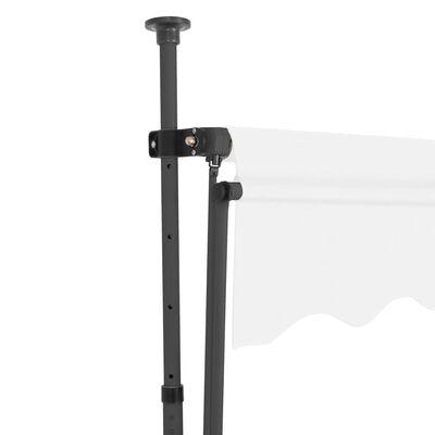 vidaXL Ručně zatahovací markýza s LED světlem 350 cm krémová