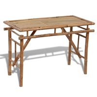 vidaXL Skládací zahradní stůl 120 x 50 x 77 cm bambus