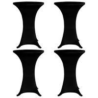 vidaXL Návlek na koktejlový stůl Ø 80 cm černý strečový 4 ks, Black
