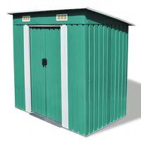 vidaXL Zahradní domek zelený kovový