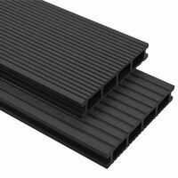 vidaXL WPC terasová prkna + příslušenství 36 m² 2,2 m antracitová