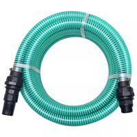 vidaXL Sací hadice s konektory 4 m 22 mm zelená