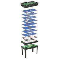 vidaXL 15 v 1 Multifunkční herní stůl 121 x 61 x 82 cm černý