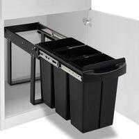 vidaXL Vestavný odpadkový koš na tříděný odpad pomalé zavírání 36 l