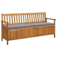 vidaXL Zahradní úložná lavice s poduškou 170 cm masivní akáciové dřevo