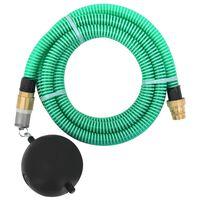 vidaXL Sací hadice s mosaznými konektory 3 m 25 mm zelená