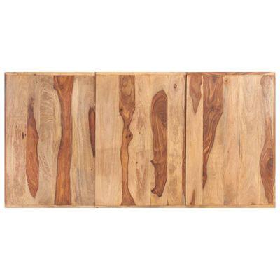 vidaXL Jídelní stůl nohy ve tvaru V 180 x 90 x 77 cm masivní sheesham