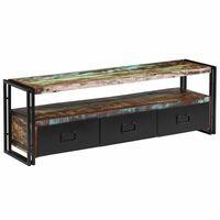 vidaXL TV stolek z masivního recyklovaného dřeva 120 x 30 x 40 cm