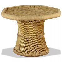 vidaXL Konferenční stolek, bambus, osmihran, 60x60x45 cm