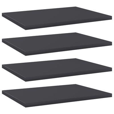 vidaXL Přídavné police 4 ks šedé 40 x 30 x 1,5 cm dřevotříska