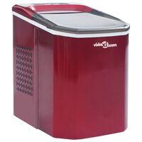 vidaXL Výrobník ledových kostek červený 1,4 l 15 kg/24 h