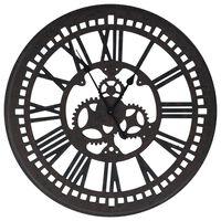 321465 vidaXL Wall Clock Black 70 cm MDF