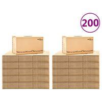 vidaXL Kartónové krabice na stěhování XXL 200 ks 60 x 33 x 34 cm