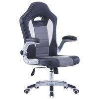 vidaXL Herní židle černá umělá kůže