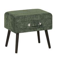 Zelený manšestrový noční stolek EUROSTAR