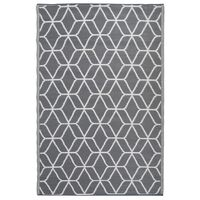 Esschert Design Venkovní koberec s grafikou 180x121 cm šedo-bílý OC25