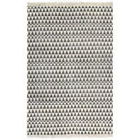 vidaXL Koberec Kilim se vzorem bavlněný 160 x 230 cm černobílý