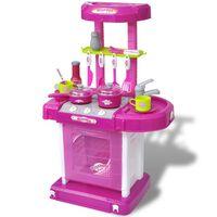 vidaXL Dětská kuchyňka se světelnými/zvukovými efekty růžová
