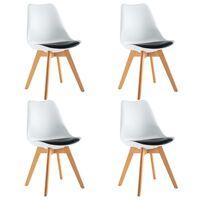 vidaXL Jídelní židle 4 ks bílé a černé umělá kůže