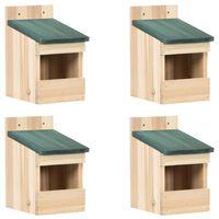 vidaXL Ptačí budky 4 ks 12 x 16 x 20 cm jedlové dřevo