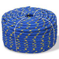 vidaXL Námořní lodní lano z polypropylenu 14 mm 250 m modré