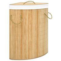 vidaXL Rohový bambusový koš na prádlo 60 l