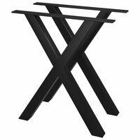 vidaXL Nohy k jídelnímu stolu ve tvaru X 2 ks 60 x 72 cm