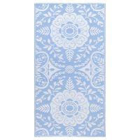 vidaXL Venkovní koberec bledě modrý 120 x 180 cm PP